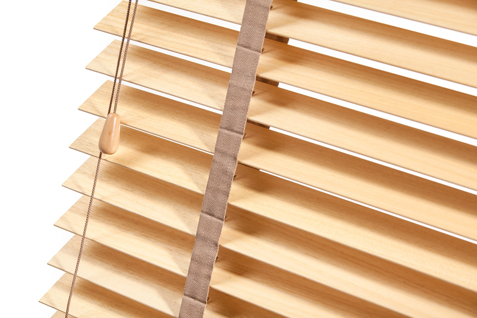 Solarglide Wooden Venetian Blinds Light Oak tapes