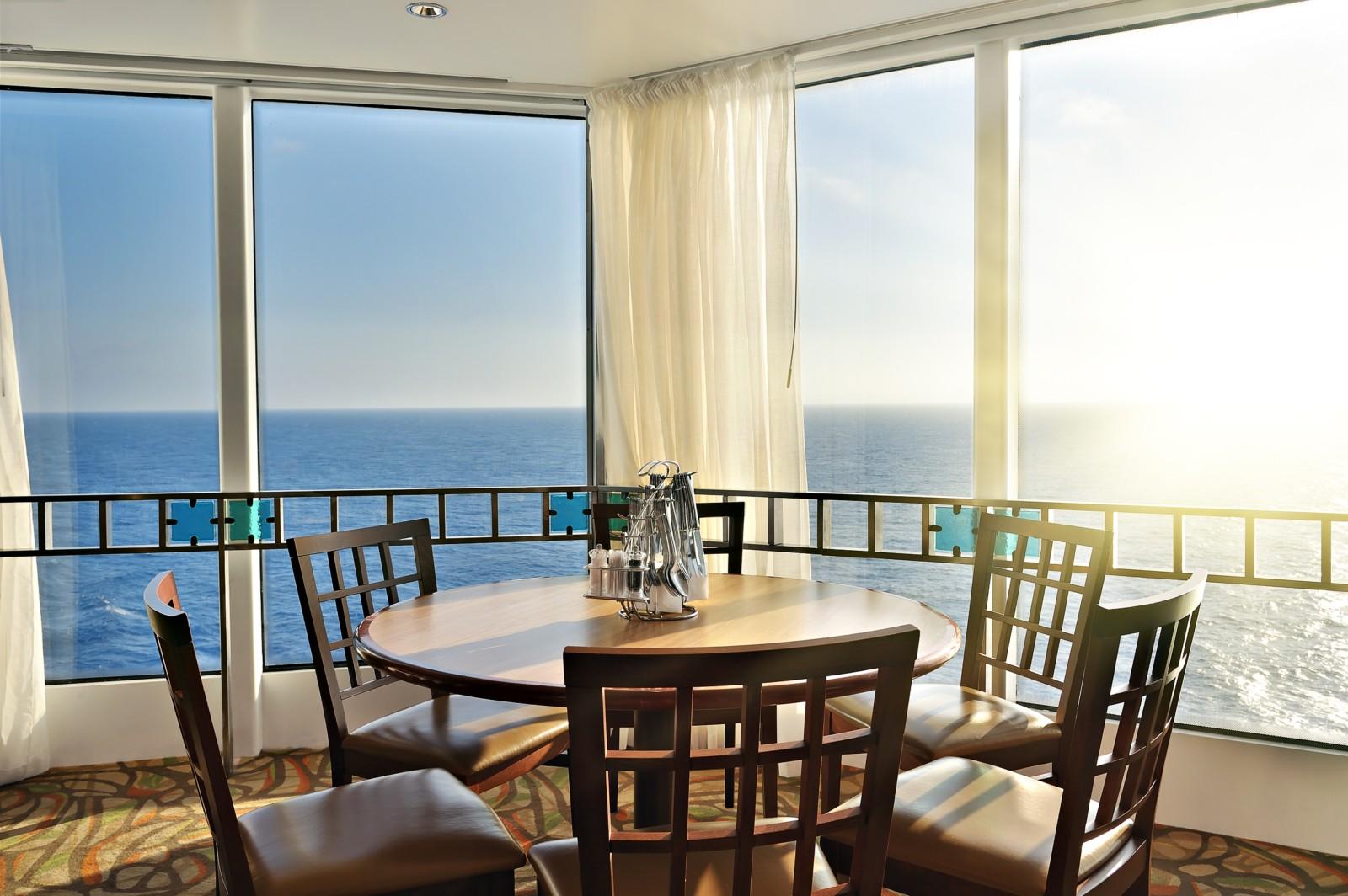 Solarglide Marine Curtains in Restaurant area