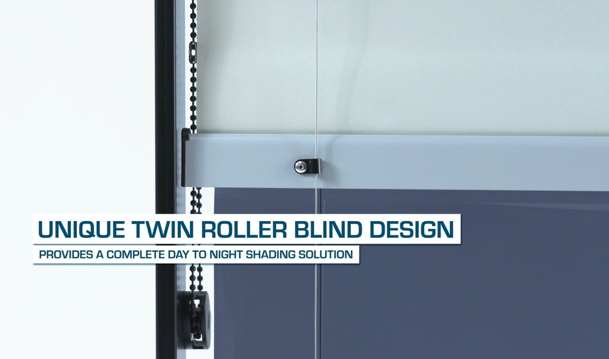 Solarglide SG Dual 24 twin roller blind