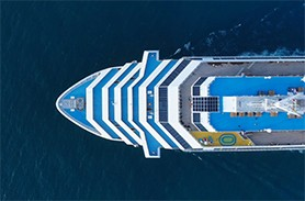 Cruise Ship from above