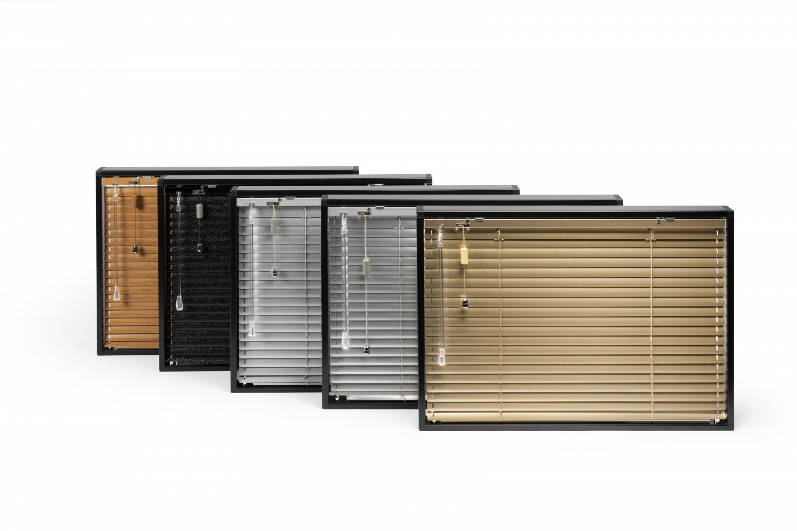 Framed Collection of Solarglide Aluminium Venetian Blind Collection